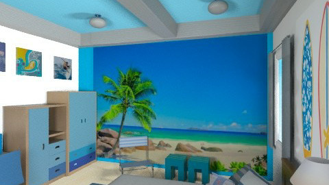 Surfs Up - Modern - Kids room  - by chloedaniella