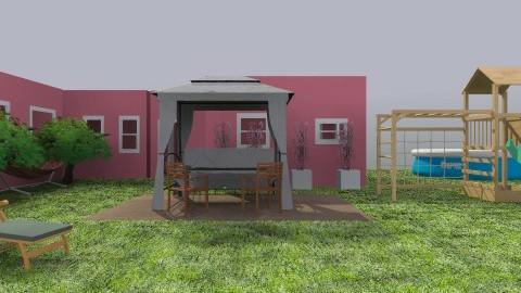 Garden Red House - Classic - Garden  - by majmunmajaa