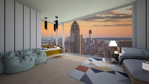 New York bedroom - Modern - Bedroom  - by Natasha W