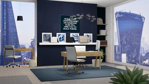 Blue Lawyer Office - Modern - Office  - by Oyisha
