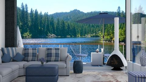 Lake view mountain - Living room  - by Sue Bonstra