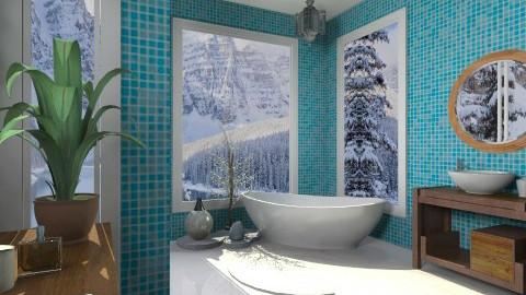 bathroom blue - Eclectic - Bathroom  - by mikaela7