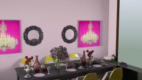 Curious pink - Modern - Dining room - by Monalis