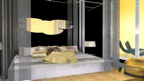 Gold angel - Minimal - Bedroom  - by chania