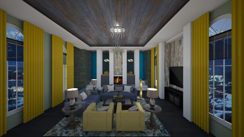 Green Yellow Blue Living - Living room - by mattpop34