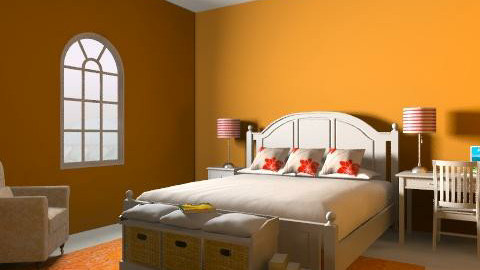Orange Delight - Country - Bedroom  - by daisies4u2