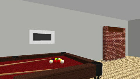 Rec room basement - Rustic - by nigelgouveia