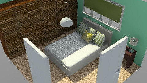 T13 - Green Minimalist - Minimal - Bedroom  - by gingerpantz