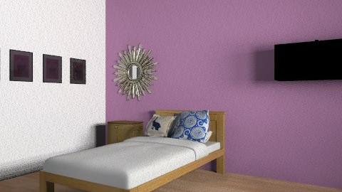 syikin's new bedroom - Retro - Bedroom  - by nursafa