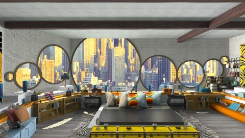New York apartment  - Modern - Bedroom  - by ladyfakessi