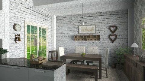 Mod with rustic - Kitchen  - by Thrud45