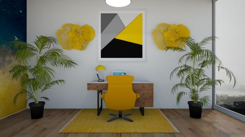 Yellow workspace - Office  - by LilLil