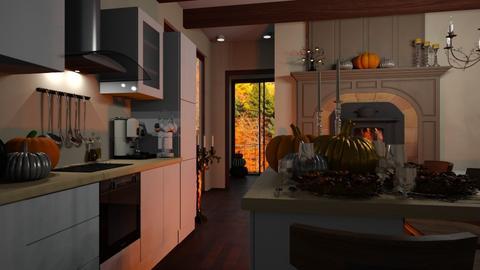 Modern Autumn - Kitchen  - by Ebru Tekneci