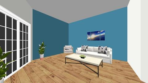 Blue - Living room  - by Capri Clark