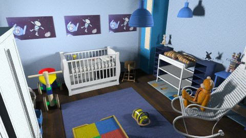 His Nursery - Kids room  - by sojo_the_truth