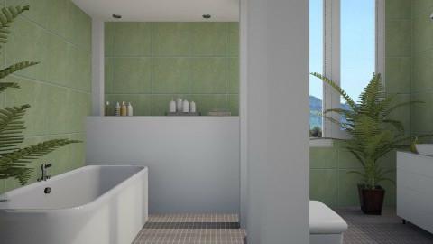 Green tiles - Modern - Bathroom  - by Thrud45