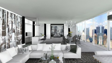 Abstract All in One  - Modern - Living room  - by AlSudairy S