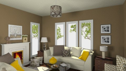 Cream and Brown 1 - Eclectic - Living room  - by Patti58