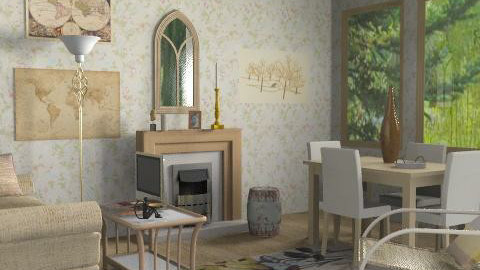 beige - Classic - Living room - by catcarla