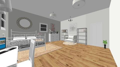 soft bedroom - Feminine - Bedroom - by elladesign