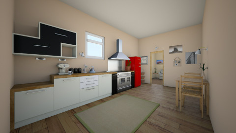 Cute small kitchen - Kitchen  - by jadebeal