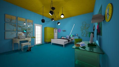 blueish - Bedroom  - by Harm monnie