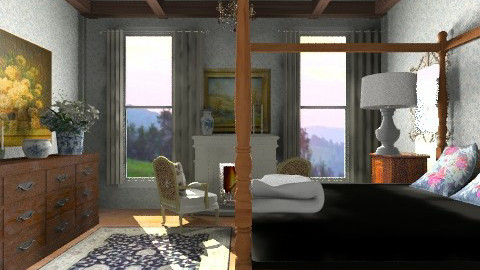 Cozy Inn - Country - Bedroom  - by PomBom