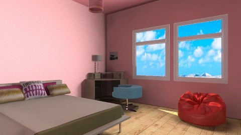 teen bedroom - Bedroom - by car46