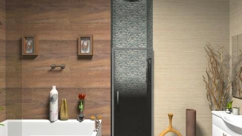 bathroom wood3 - Bathroom - by stephanieoh17