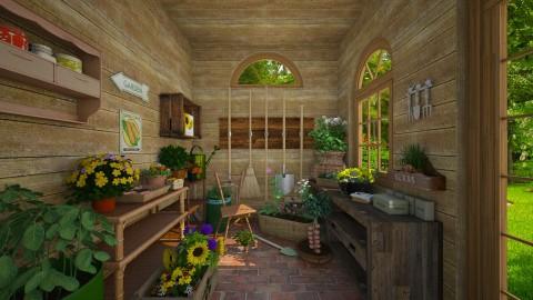 Garden Shed - Garden  - by Violetta V