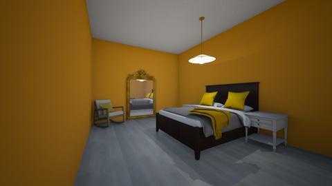yellow room - Bedroom  - by Kamila  Mendoza