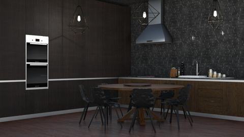 BROWN K - Modern - Kitchen  - by NEVERQUITDESIGNIT