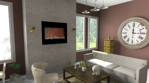 antique living room - Living room - by PaperFlower