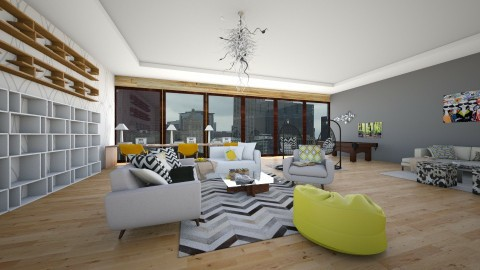 Student Hotel - Modern - Living room  - by bgref