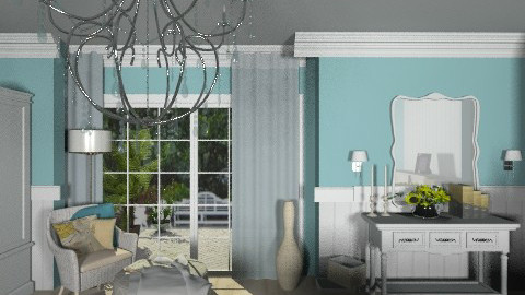 Blue Elegant bedroom - Classic - Bedroom  - by KittiFarkas