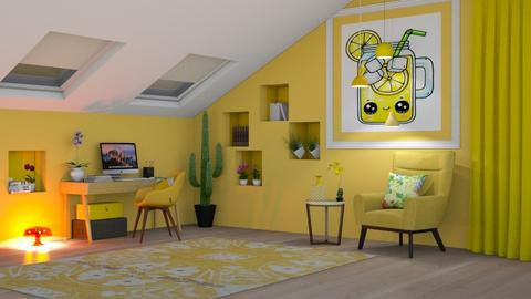 Lemonade Home Office - Office - by Art_Decoration