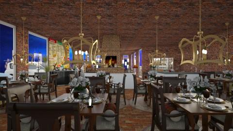 Cozy Restaurant  - Rustic - Dining room  - by InteriorDesigner111