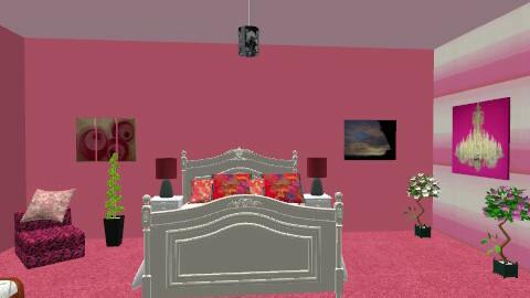 Feminine Living Area - Glamour - Bedroom  - by vivi299