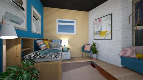 College Dorm Room - Minimal - Bedroom  - by t harv