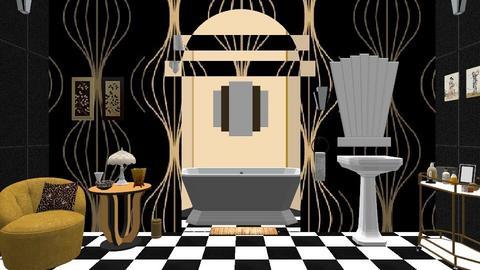 art deco bath - Vintage - Bathroom  - by minty_builds
