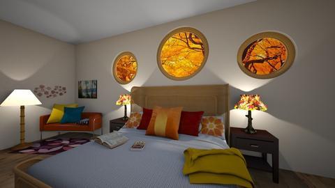 Autumn Themed Bedroom - Bedroom  - by Anidori
