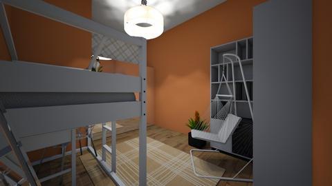 orange room - Bedroom  - by mohm43