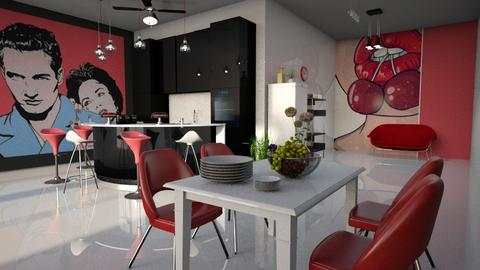 Pop Art Kitchen - Kitchen  - by ZuzanaDesign