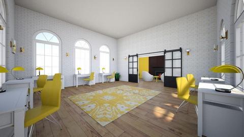 yellow office 1 - Office  - by camiabendroth