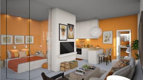 Orange and White AP - Modern - by Claudia Correia