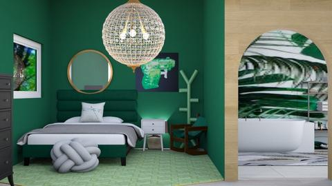 Contest_Dark green - Modern - Bedroom  - by Itsavannah