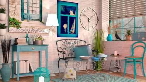 Turquoise metal Living - Vintage - Living room - by Sally Simpson