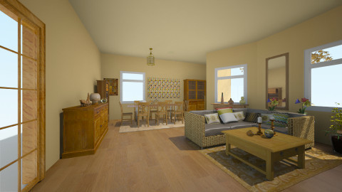 n - Country - Living room  - by PAULA avila