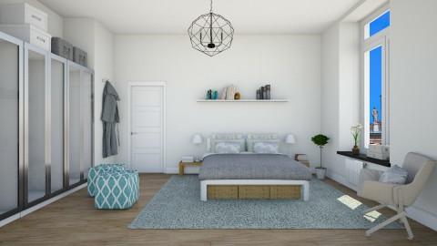 Apt  bedroom  - Modern - Bedroom  - by martinabb