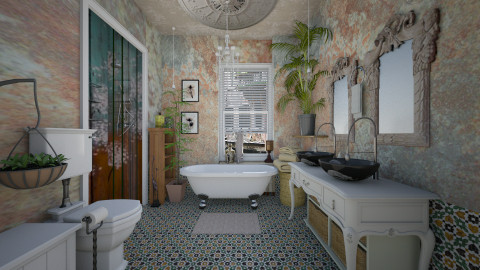 bohomian light - Vintage - Bathroom  - by Evangeline_The_Unicorn